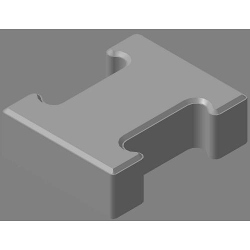 Плитка тротуарная «гантель» 60мм (цвет серый, акция)