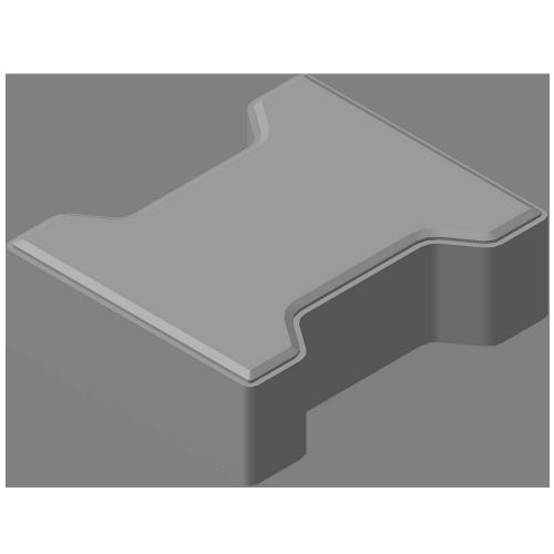 Плитка тротуарная «Катушка» серая 60мм КЦТ-КК-23 акция