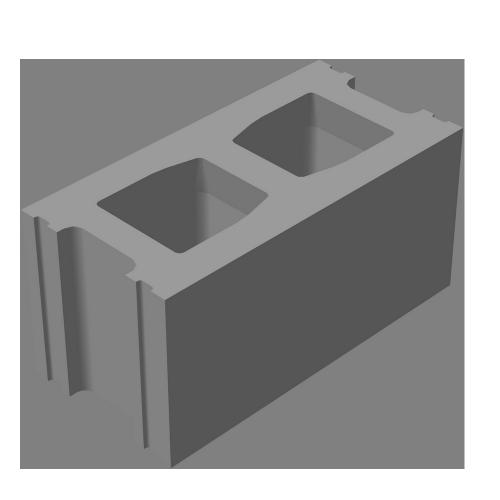 Блок стеновой рядовой СКЦ-КК-3