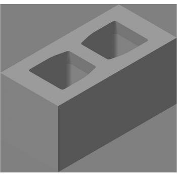 Блок стеновой прямой СКЦ-КК-4